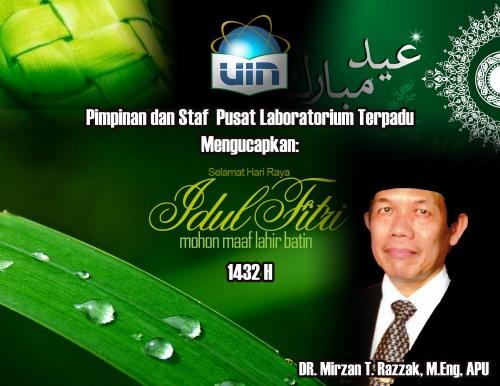 Pimpinan PLT dan Staf Mengucapkan Selamat Hari Raya Idul Fitri 1432 H