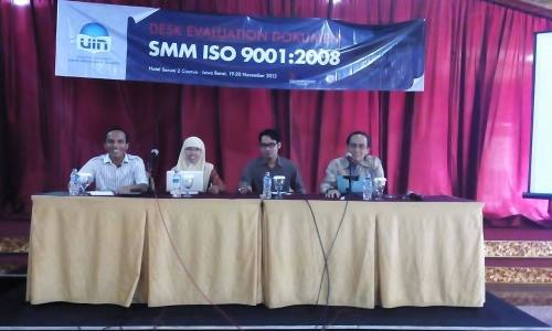 Workshop Audit Mutu Internal: desk evaluation documents ISO 9001:2008