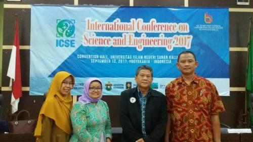 PLP UIN menjadi Pemakalah pada International Conference of Science and Engineering 2017 Yogyakarta